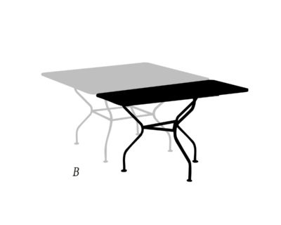 Bout de table rectangulaire