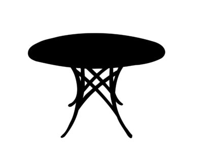 Table ronde à l'antique